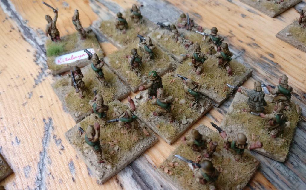 Der 2. Infanteriezug der kaiserlichen Kompanie auf Wake Island