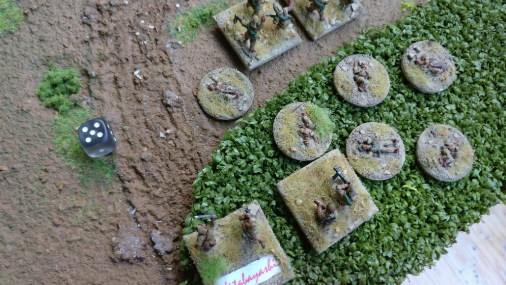 Der Break Test besiegelt dann recht flott das Schicksal des Infanteriezuges. Gone....