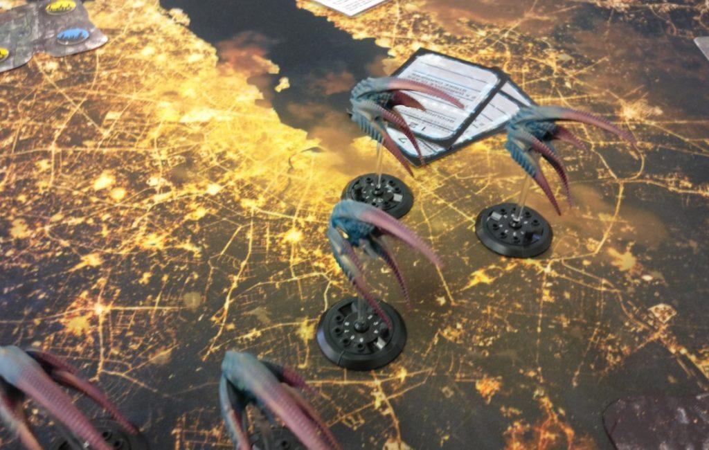 """Spieltisch """"Dropfleet Commander"""" von Ad Arma aus Speyer auf der Table Topia in Aschaffenburg"""