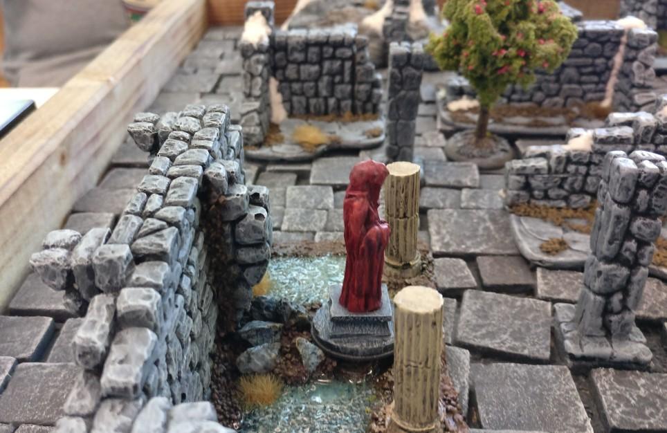"""Spieltisch """"Frostgrave"""" auf der Table-Topia in Aschaffenburg."""