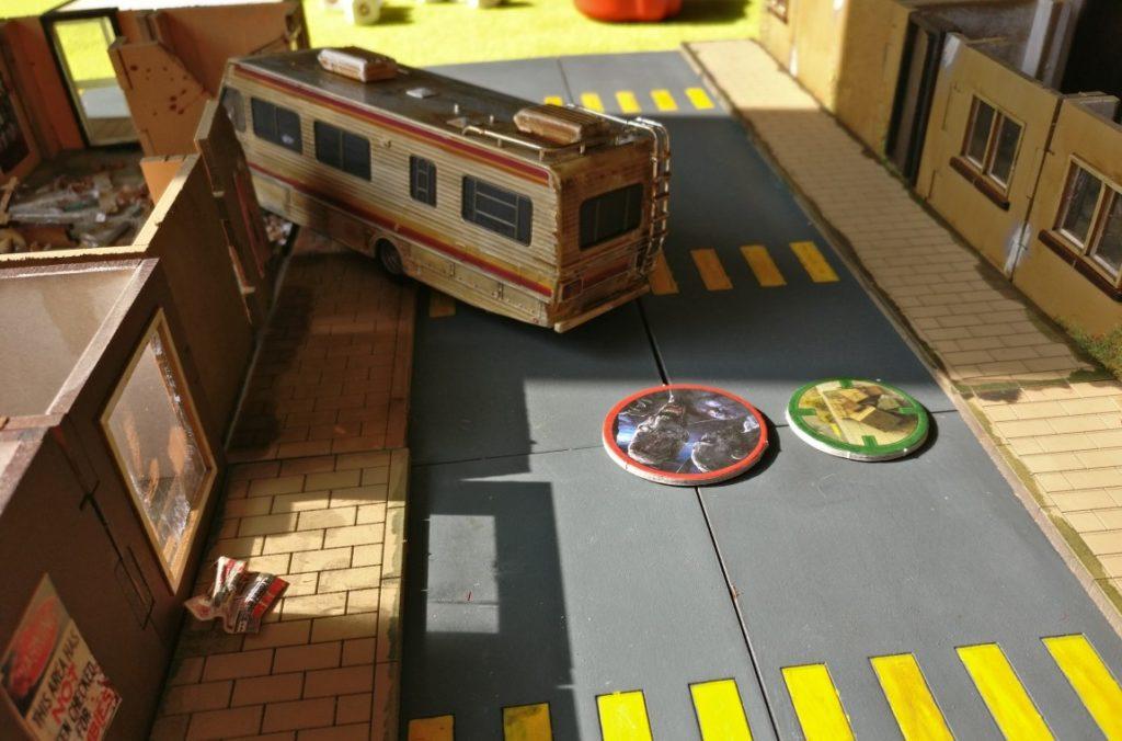 """Spieltisch """"Project Z"""" (Warlord Games) auf der Table-Topia vom Asgard e.V. in Aschaffenburg."""