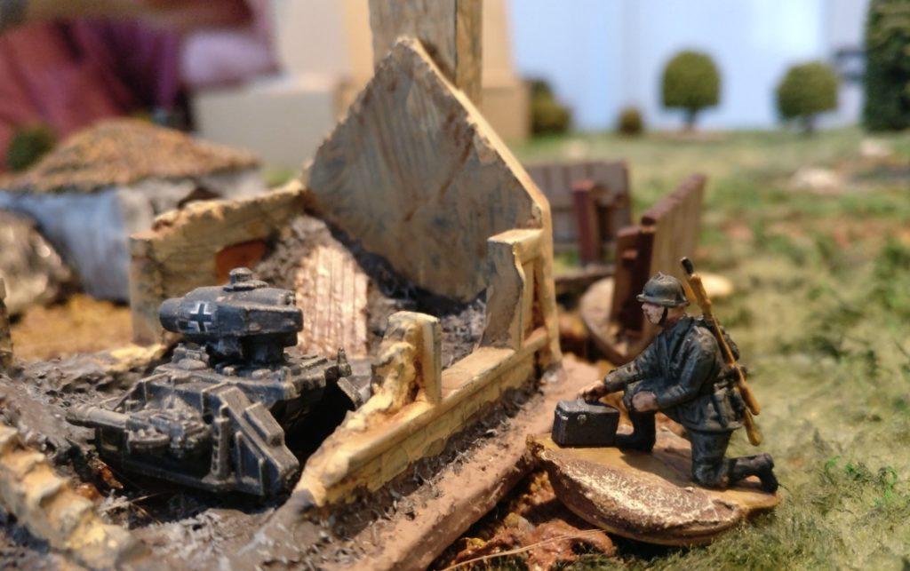 Ein Sd.Kfz. 309 Ausf. D im Häuserkampf.