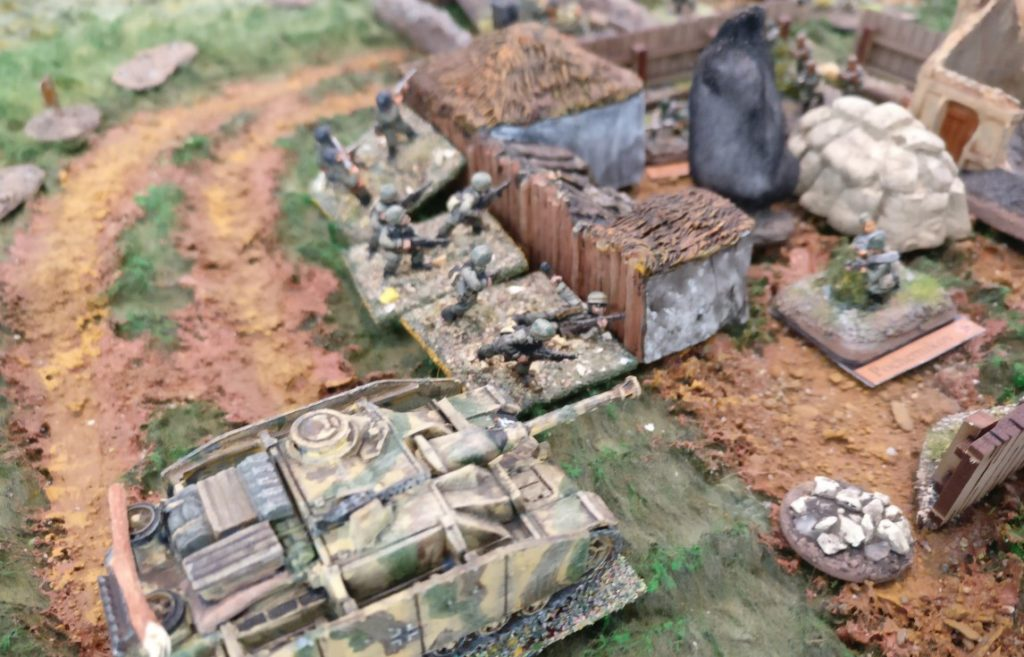 Der deutsche Assault im russisch besetzten Gehöft.
