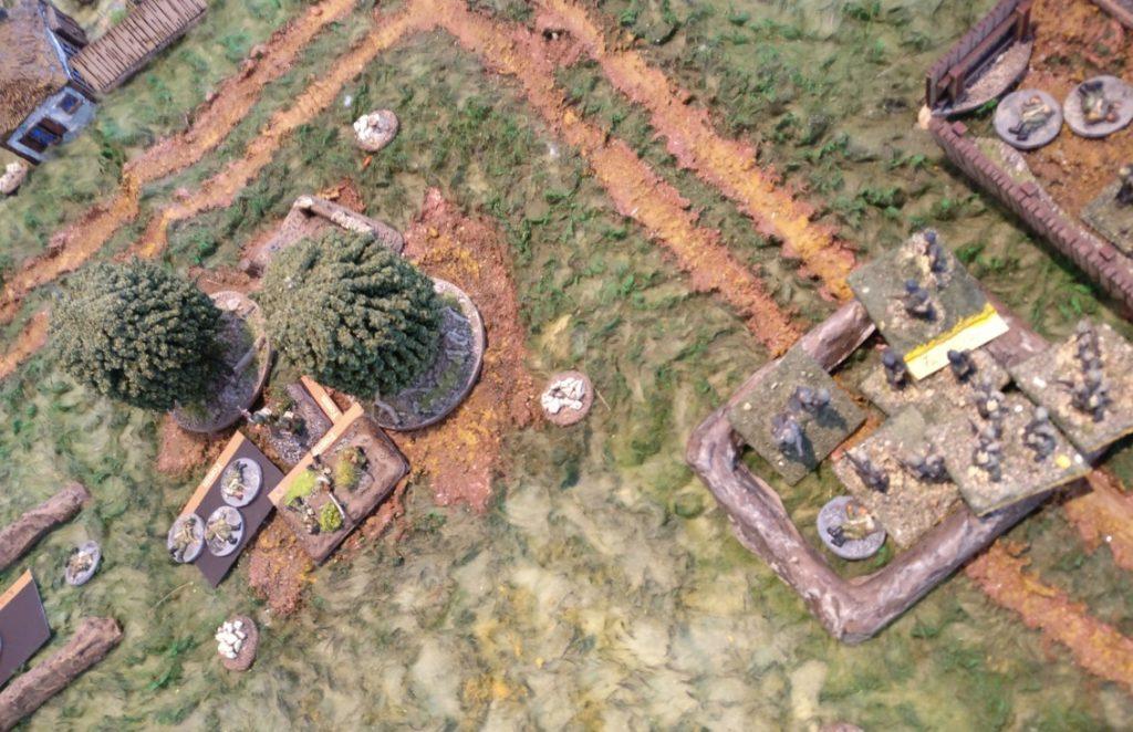 Rechts im Bild: das overstacked Feld des deutschen Zuges und links das erneut russisch besetzte Closed-Feld.