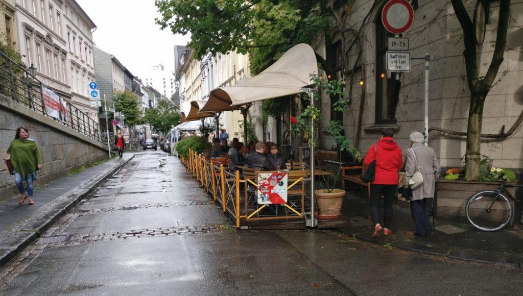 Downtown Elberfeld. Trotz Regen eine überaus lauschige Atmosphäre.