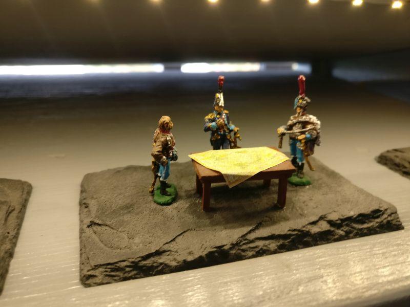 """Miniatur """"Französische Offiziersbesprechung"""" der Hagen Miniatures auf der Inspiration Modellbau am 23.09.2017 in der Ludwig-Eckes-Halle in Nieder-Olm"""
