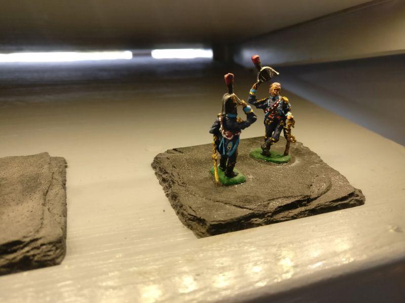 """Miniatur """"Französische Adjutanten"""" der Hagen Miniatures auf der Inspiration Modellbau am 23.09.2017 in der Ludwig-Eckes-Halle in Nieder-Olm"""