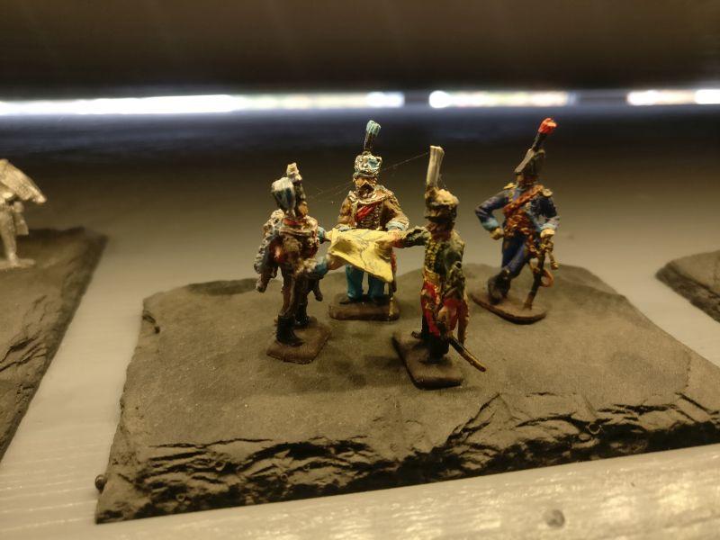 """Miniatur """"General Lasalle - Offiziersbesprechung"""" der Hagen Miniatures auf der Inspiration Modellbau am 23.09.2017 in der Ludwig-Eckes-Halle in Nieder-Olm"""