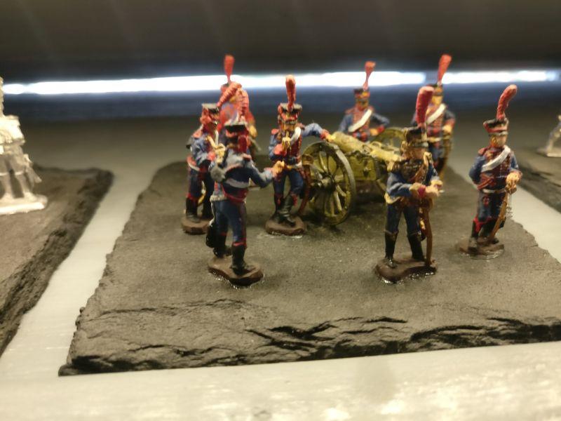 """Miniatur """"Französische reitende Artillerie, wartend, 1800-1815"""" der Hagen Miniatures auf der Inspiration Modellbau am 23.09.2017 in der Ludwig-Eckes-Halle in Nieder-Olm"""