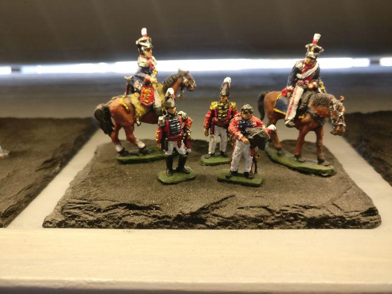 """Miniatur """"Britischer Generalstab, napoleonische Epoche"""" der Hagen Miniatures auf der Inspiration Modellbau am 23.09.2017 in der Ludwig-Eckes-Halle in Nieder-Olm"""