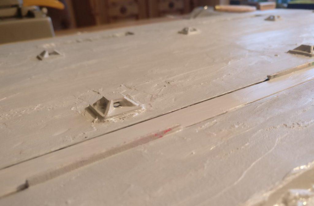 """Well done! Der gesamte Betonboden der Fabrikhalle """"Roter Oktober"""" ist begraut."""