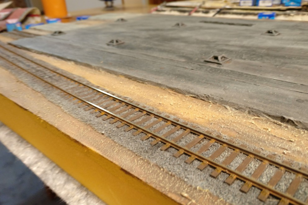 Finito! Für heute werden die Gleisbauarbeiten eingestellt...