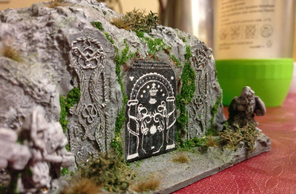Der Eingang zur Zwergenfestung. Ein Lieblingsprojekt von Xena.