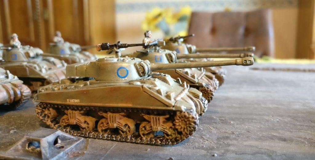 Fahrzeug #1 (Platoon Commander) der M4 Sherman Platoon eins bis drei.