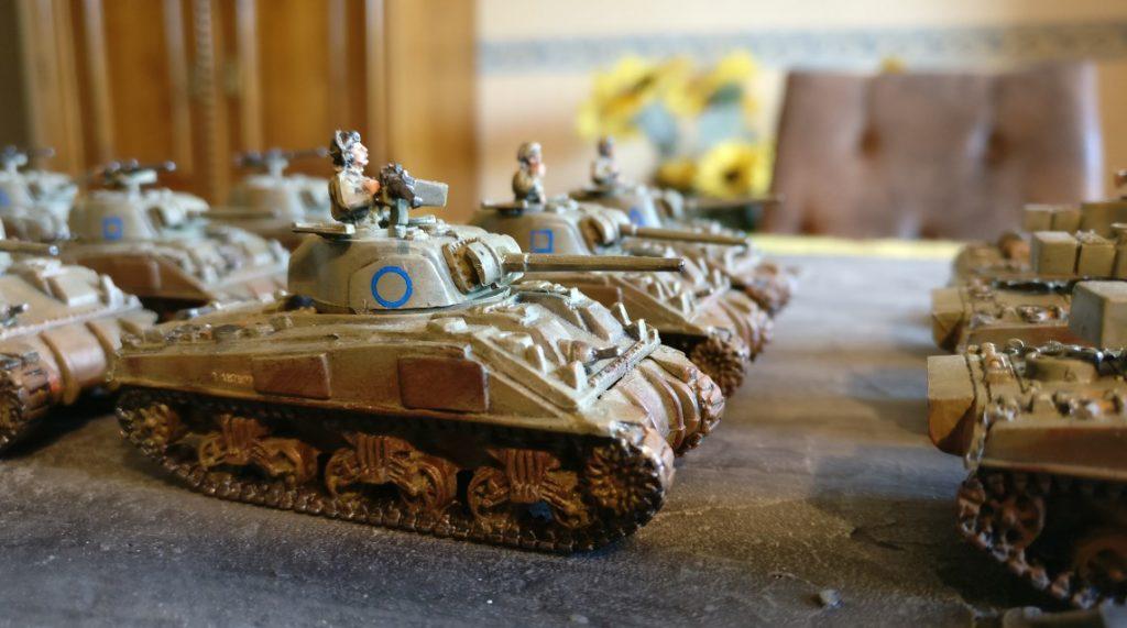 Fahrzeug #2 der M4 Sherman Platoon eins bis drei.