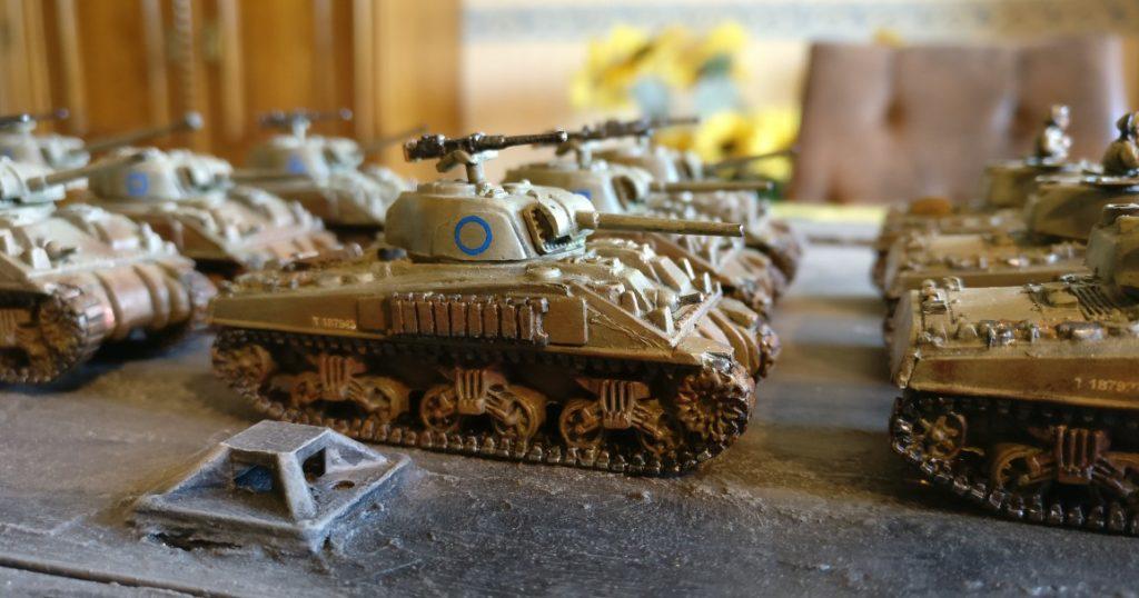 Fahrzeug #3 der M4 Sherman Platoon eins bis drei.