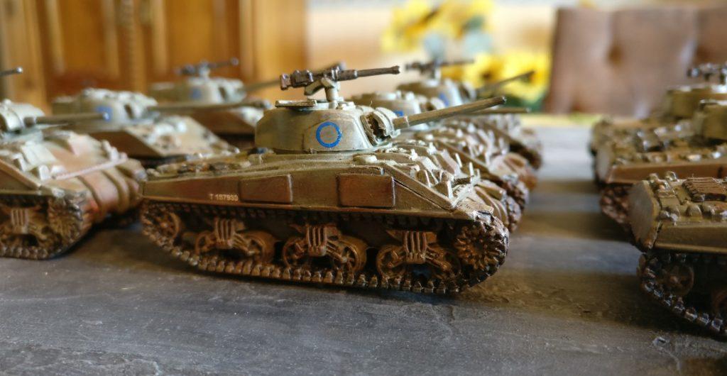 Fahrzeug #4 der M4 Sherman Platoon eins bis drei.