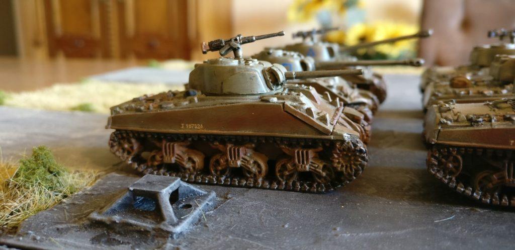 Fahrzeug #5 der M4 Sherman Platoon eins bis drei.