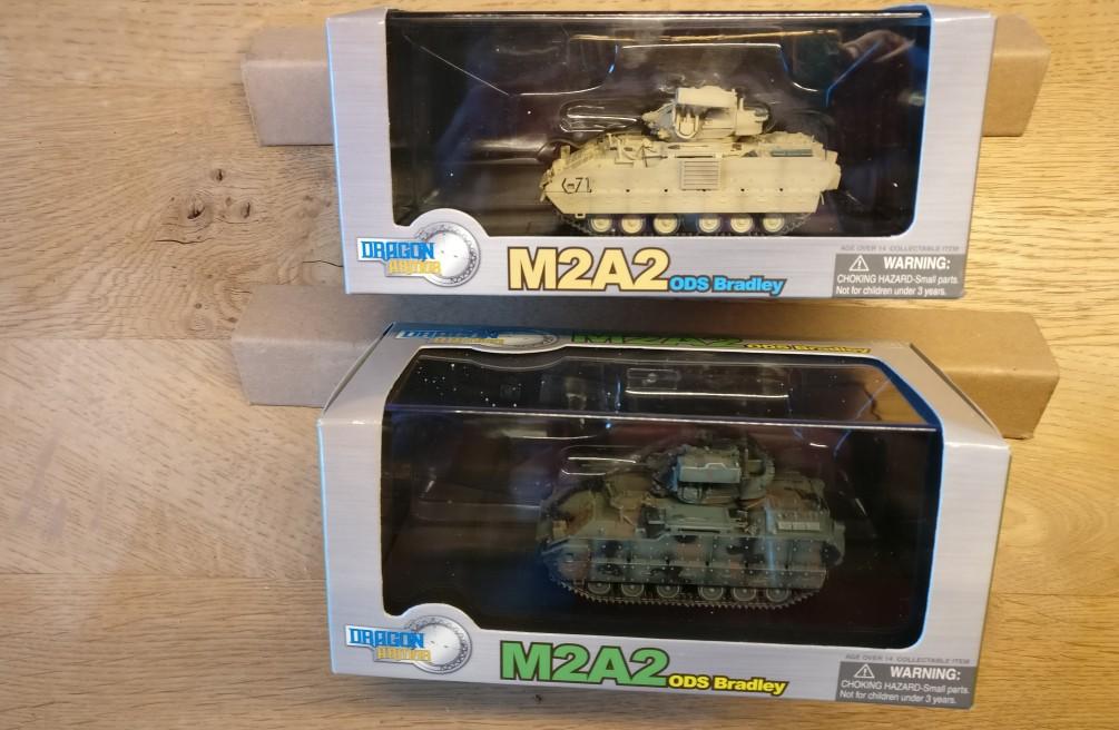 "Dragon Armor (60033) M2A2 ODS Bradley, 1-41st Infantry, 1st Armored Div und Dragon Armor (60034) ""M2A2 ODS Bradley"" Big Red One 1-26 1st Infantry Germany."