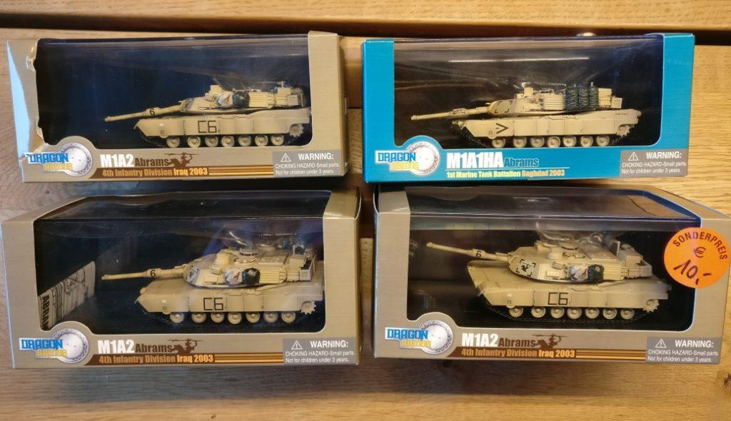 Dragon Armor (60016) M1A2 Abrams, 4th Infantry Division, Iraq 2003 und Dragon Armor (60015) M1A1HA Abrams 1st Marine Tank Batallion Baghdad 2003