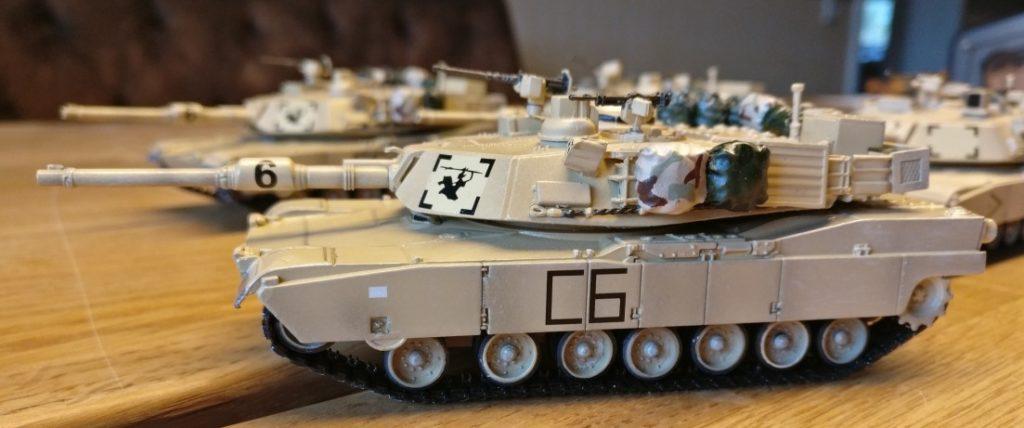 Hier einer der Dragon M1 Abrams mit den tanzenden Laufrollen noch etwas näher.