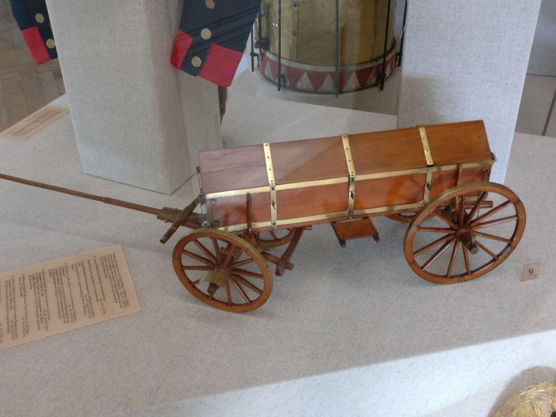 Arsenalmodell eines Munitionswagens der Regimentsartillerievon 1795 in der militärhistorisch-hessischen Sammlung von Schloss Friedrichstein in Bad Wildungen