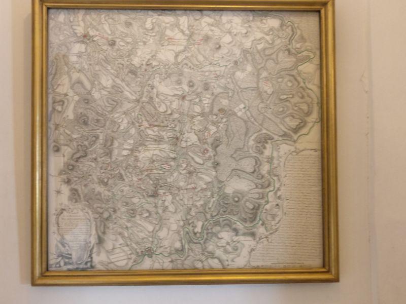Plan de la bataille de Wilhemlsthal in der militärhistorisch-hessischen Sammlung von Schloss Friedrichstein in Bad Wildungen