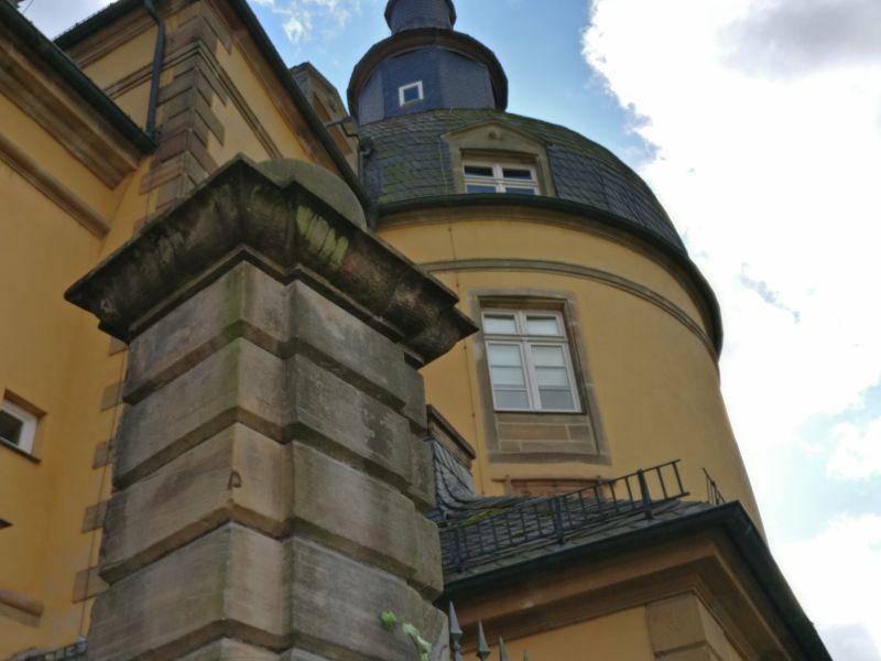 Der Rundturm auf Schloss Friedrichstein in Bad Wildungen