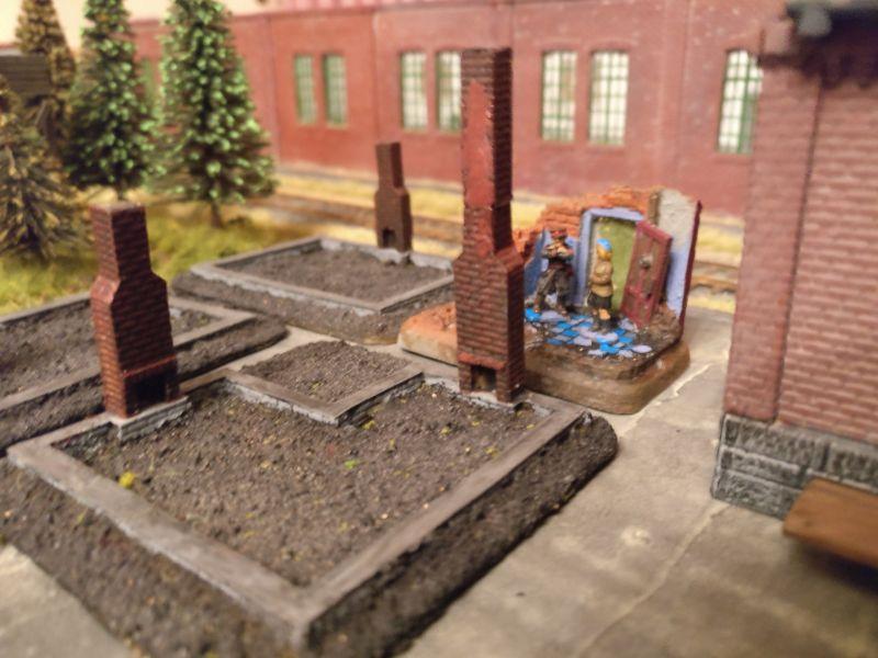 Ariovists Gebäudeensemble auf der Spielplatte Shturmigrad.