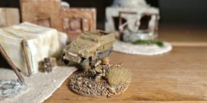 Die PBI CC Company Commander Base in 15mm. DAK / Deutsches Afrika Korps