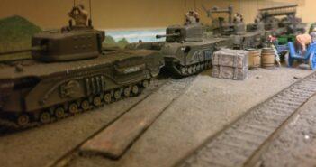 Truppenbewegungen in Saint-Aubin