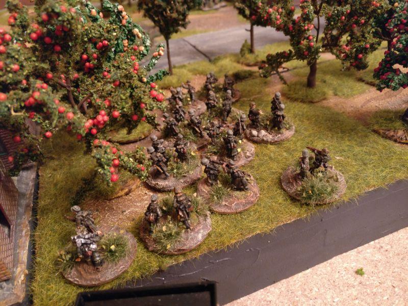 Das Platoon Volksgrenadiere, sie werden das Spiel off table beginnen.