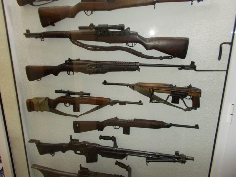 Das Museum birgt auch eine umfangreiche Sammlung von Handfeuerwaffen. Foto aus dem MM Park-France La Wantzenau.