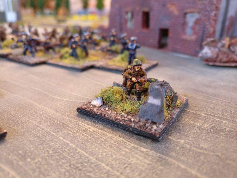 Der Kompaniechef der Marineinfanteristen
