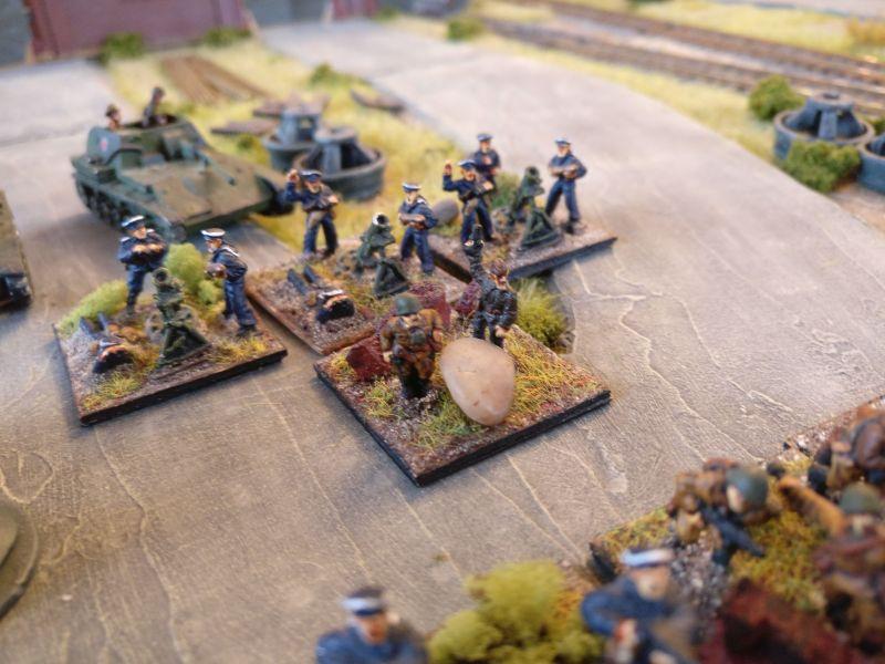 Der Granatwerfer-Zug der Marineinfanteristen.
