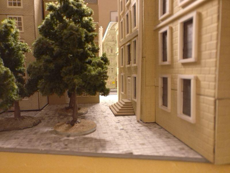 Blick aus dem Hinterhof.