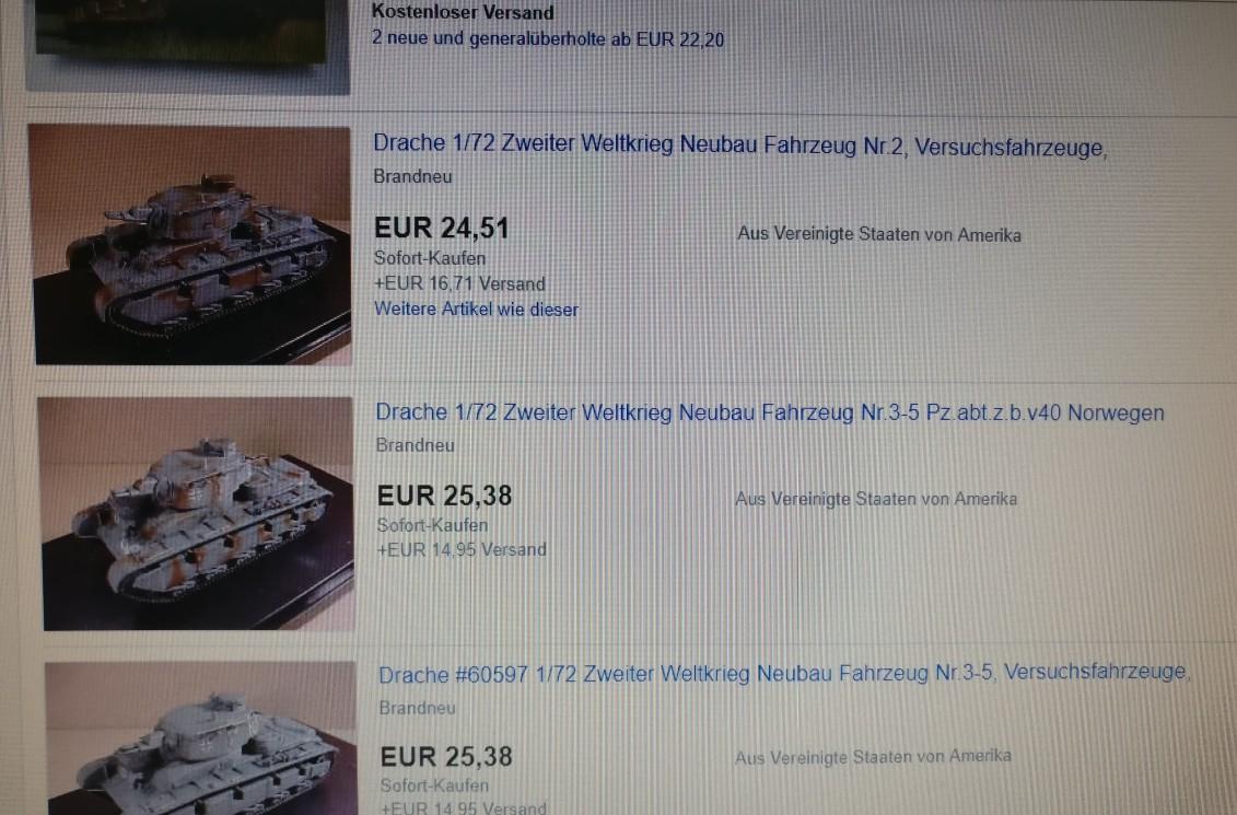 Wie man hört, ist das Neubaufahrzeug der 7. Panzerdivision noch in Beschaffung. Von Dragon gibt es in der Bucht mit der Artikelnummer 60597 einen Ein-Teil-Bausatz in Panzergrau. Der Preis ist ein wenig opulent, aber da warten wir mal in Ruhe ab.  (#2)