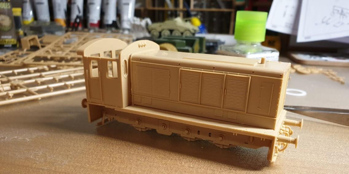 "Hier die fast fertig montierte Hobby Boss  ""German-WR360-C-12"" Rangierlokomotive. (#3)"