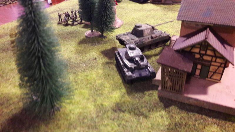 Der geile Panther und der Panzer IV gehen vor. Die Jungs meinen's ernst!