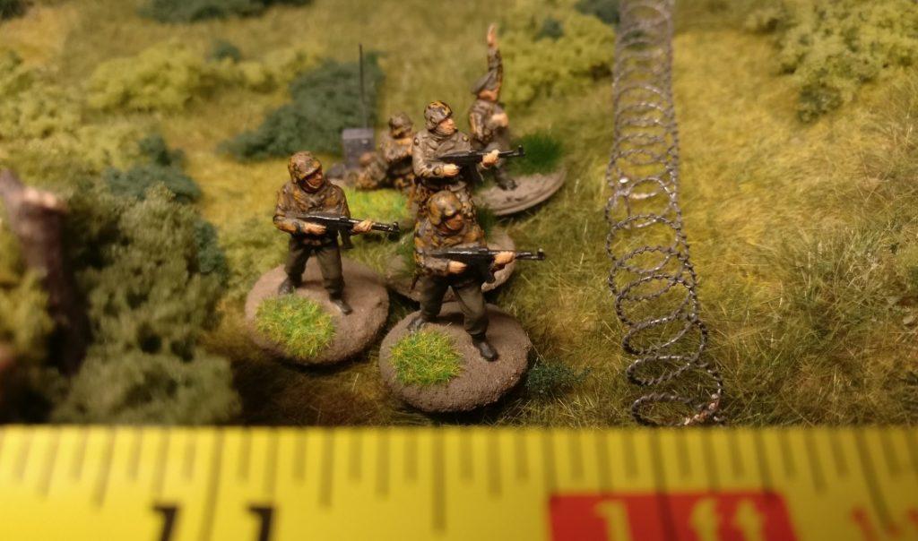Diese Infanterieeinheit ist eine Elite-Einheit. Sie muss keinen Moraltest ausführen und verbleibt in ihrer Stellung.