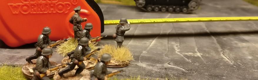 Der Stoßtrupp um Hauptmann Hornung hat die Schlüsselpositionen bereits fest im Blick.