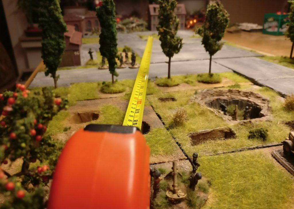Auch die anderen Granatwerfer haben die MIndestentfernung zum Ziel von 30 Zoll.
