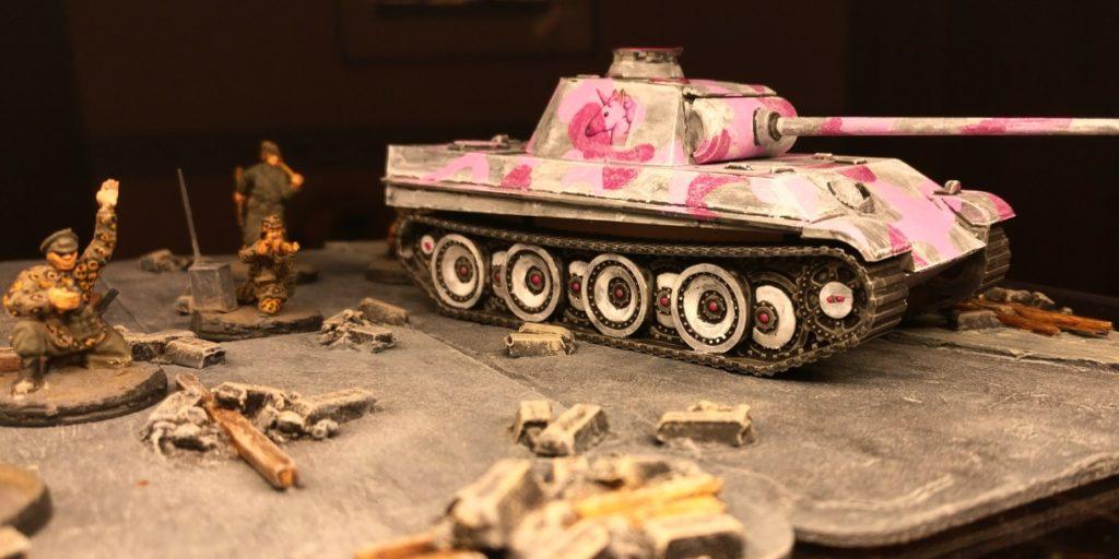 Der Pink Panther: Hier ist er nochmal in groß.