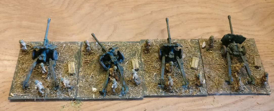 Die vier 17-Pounder der 15mm Irish Guards für die Sturmi Army