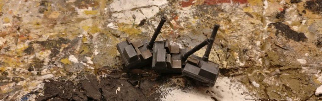 """Die drei 81mm Granatwerfer stammen aus dem Sd.Kfz. 250 """"alte Halftrack"""" von PSC. Die hatte ich damals nicht eingebaut, jetzt kommen sie zum Einsatz!"""