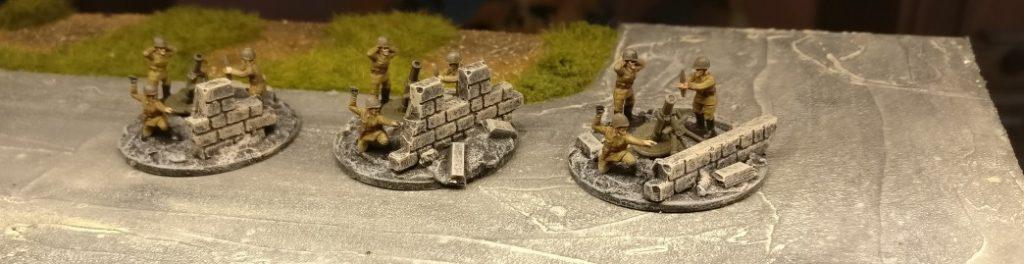 Final wird der Granatwerfer noch eingesetzt. Set Plastic Soldier Russian Infantry Heavy Weapons (WW2015004)