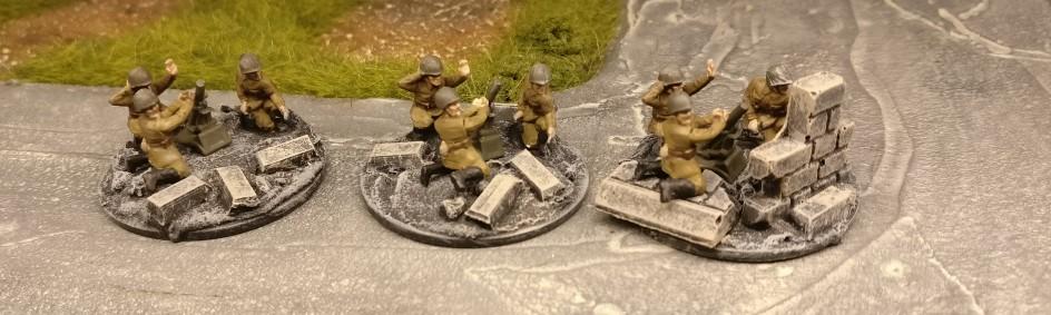 3 leichte 50mm Granatwerfer Trupps. Für PBI, aus dem Set Plastic Soldier Russian Infantry Heavy Weapons (WW2015004)