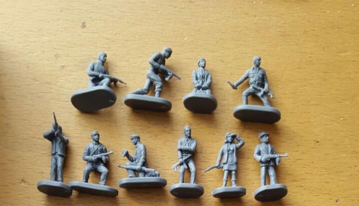 Caesar Set H006 WWII Underground Resisters (Partisans) als Ausgangsbasis für Maxens Rekrutierungen.