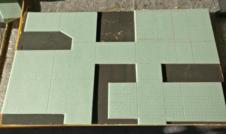 Le voilà! Die überschüssigen Teile sind mittels Skalpell und Bastelmesser ausgeschnitten und entfernt.