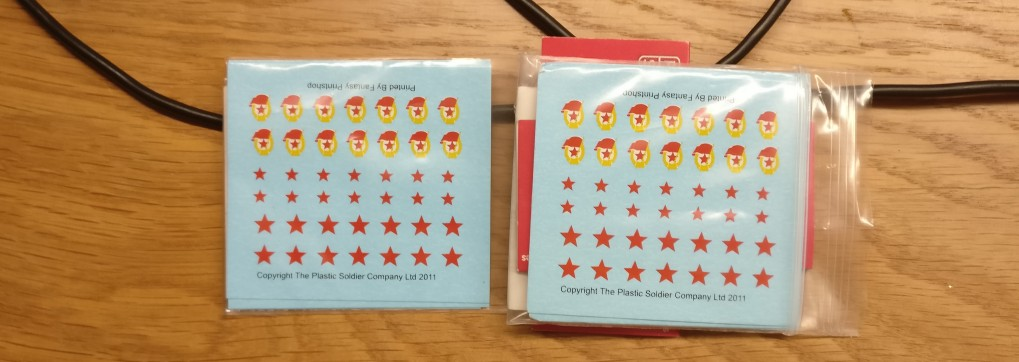 "Decal-Set ""Soviet Tactical and Unit Signs, Stars and Guards"" von PSC Plastic Soldier Company"